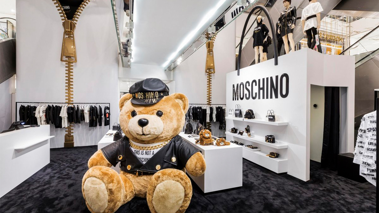 Moschino pop-up at Printemps, Paris
