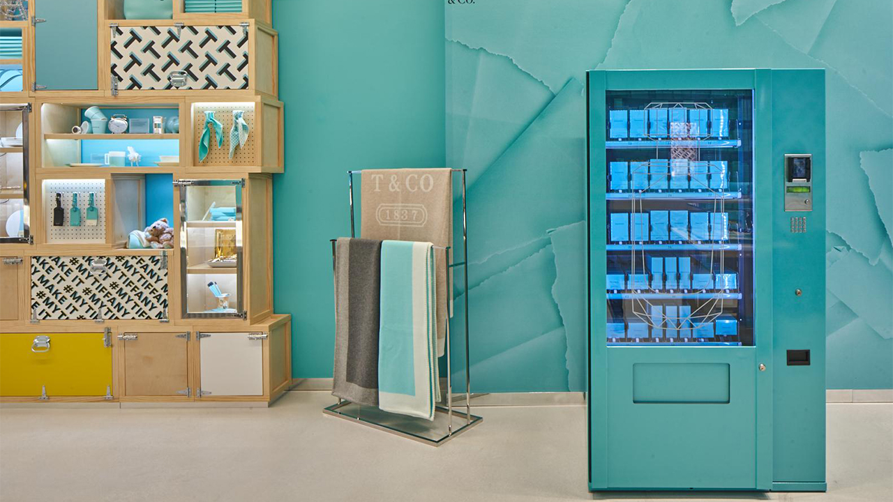 Tiffany & Co vending machine London