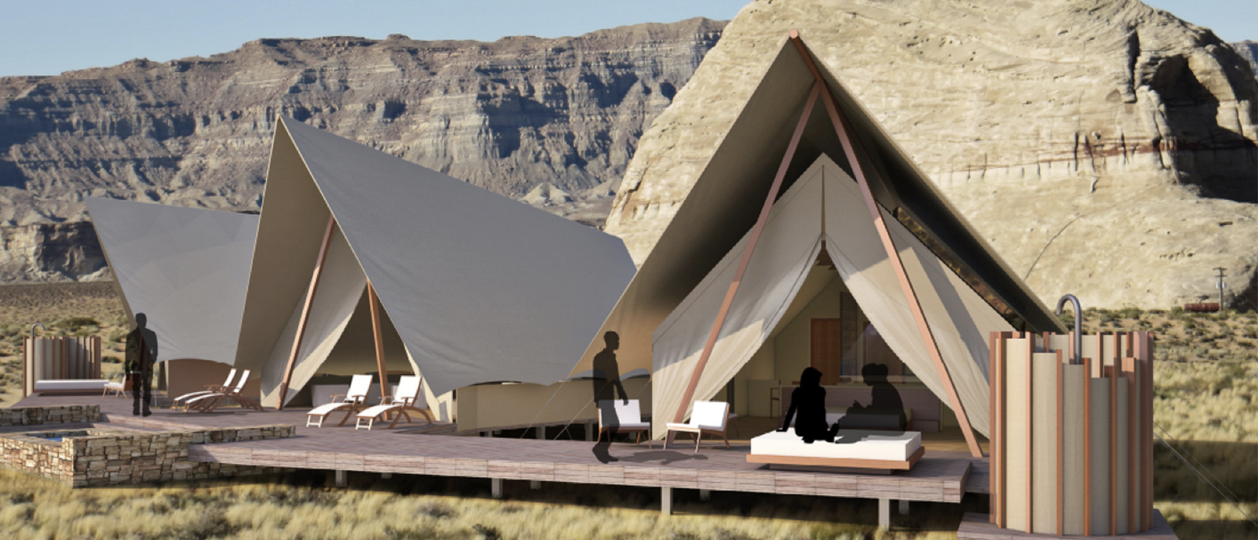 A Luxury Frontiers pop-up hotel concept