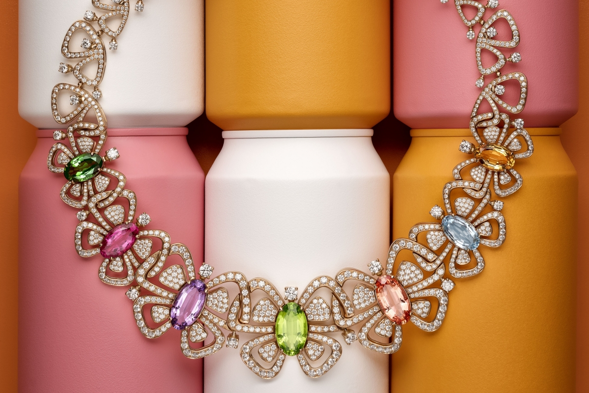 Bulgari's 'Butterflies' necklace, influenced by Andy Warhol's illustrations from the 1950s