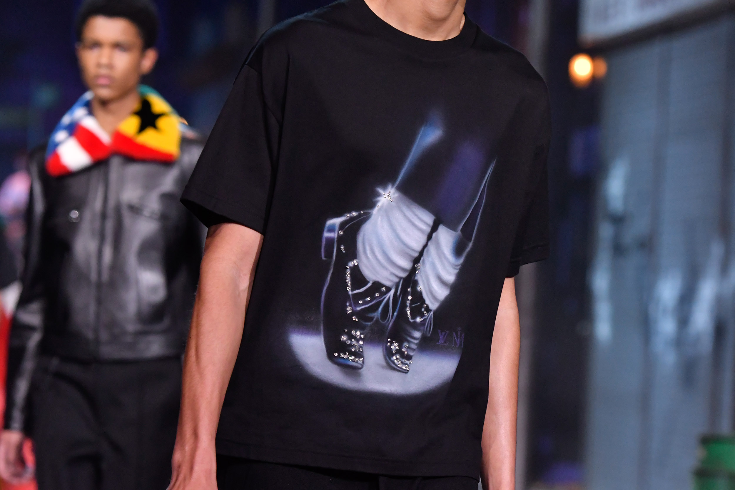 Louis Vuitton tribute to Michael Jackson (Photo by Victor Boyko/Getty Images)