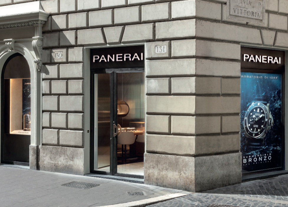 Panerai new boutique in Rome, Italy