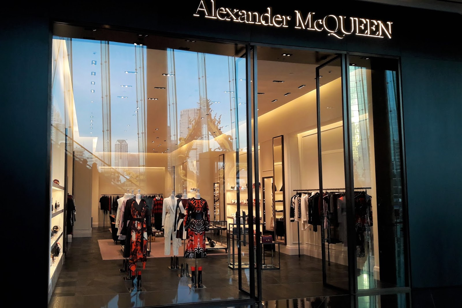 Alexander McQueen store in Bangkok at Inconsiam