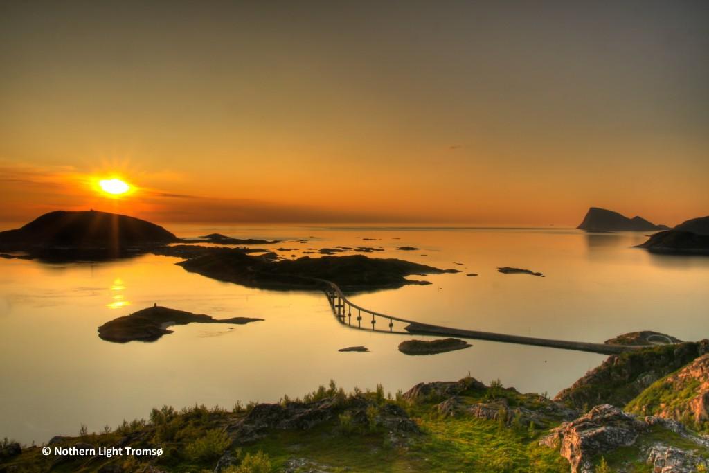Midnight sun at Tromso Norway #HermesDreams