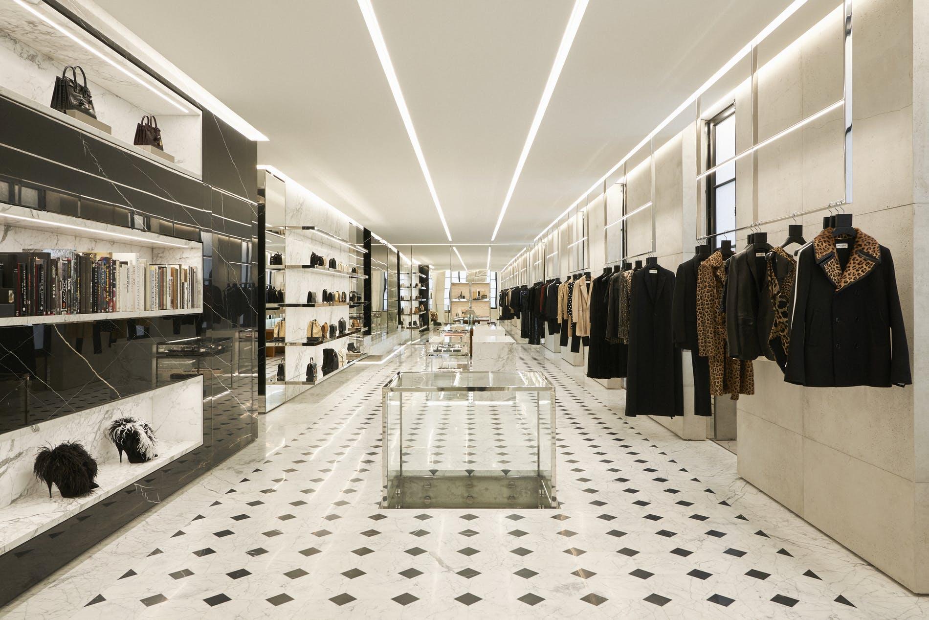 Saint Laurent Rive Droite, Paris concept store