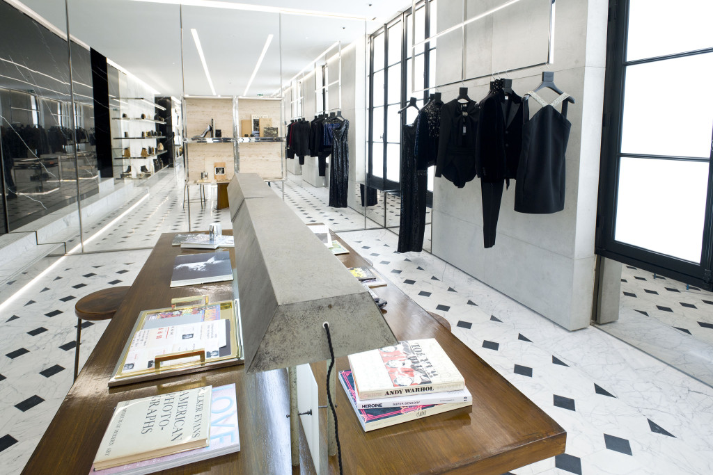 Saint Laurent Rive Droite new store concept in Paris