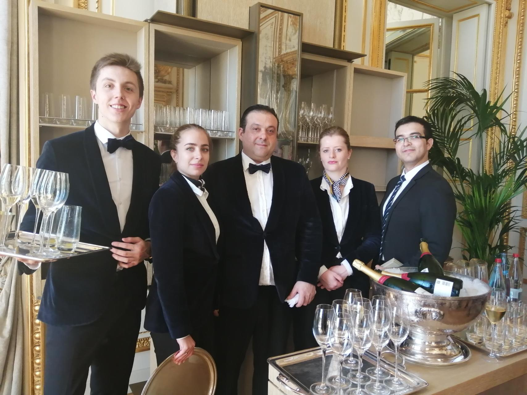 Hotel de Crillon, Rosewood two year celebration event with staff (source LinkedIn)