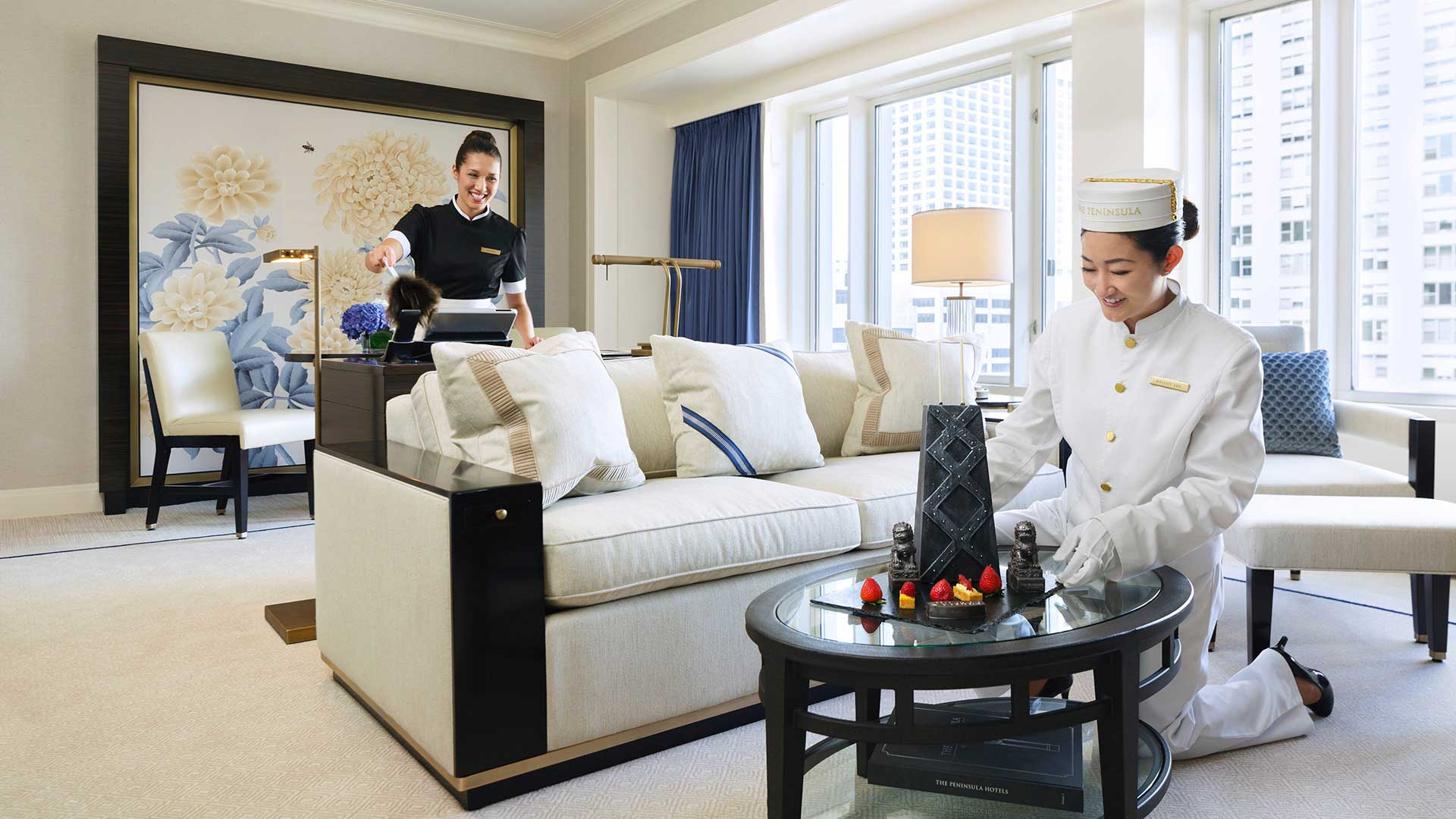The Peninsula Chicago newly renovated suite