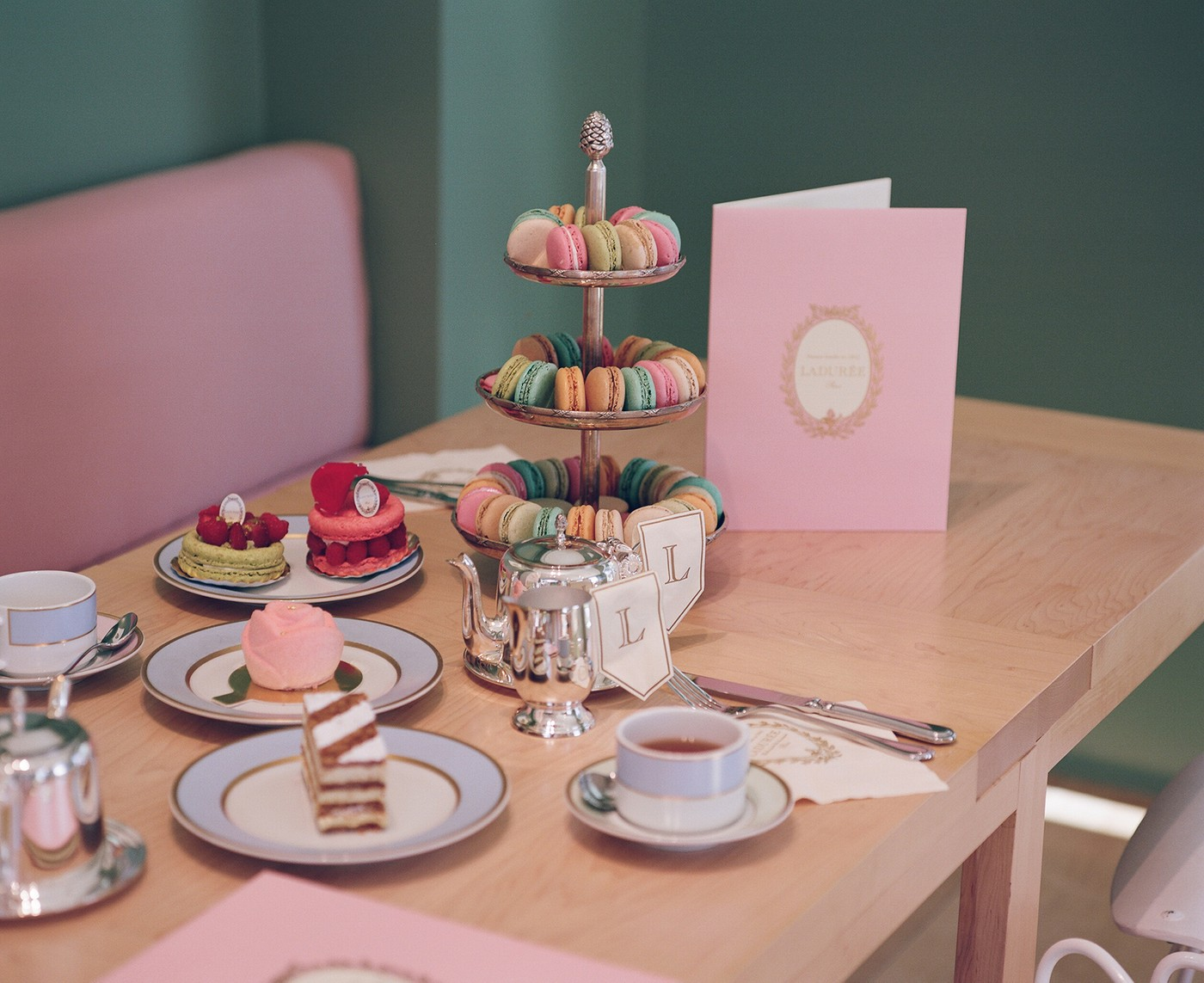 Laduree Cafe at Mansur Gavriel store Los Angeles