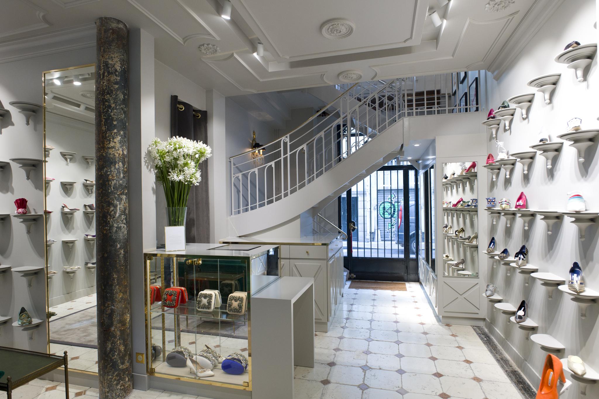 Manolo Blahnik new store in Paris at Palais Royal