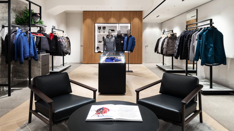 Canada Goose new store Milan at Via della Spiga