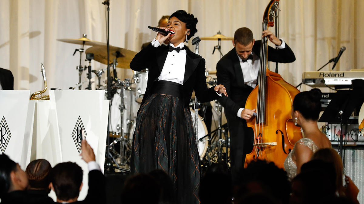 Janelle Monae performs at the Ralph's Club (Ralph Lauren Fall 2020)