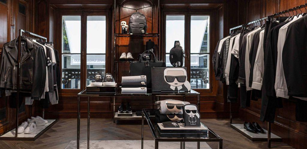 Karl Lagerfel newly reopened store Saint Germain, Paris