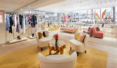 Louis Vuitton newly renovated store London at Sloane St