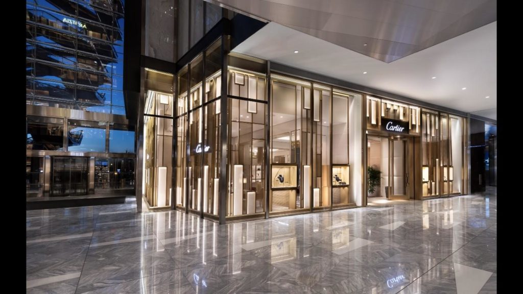 Cartier store in New York at Hudson Yards