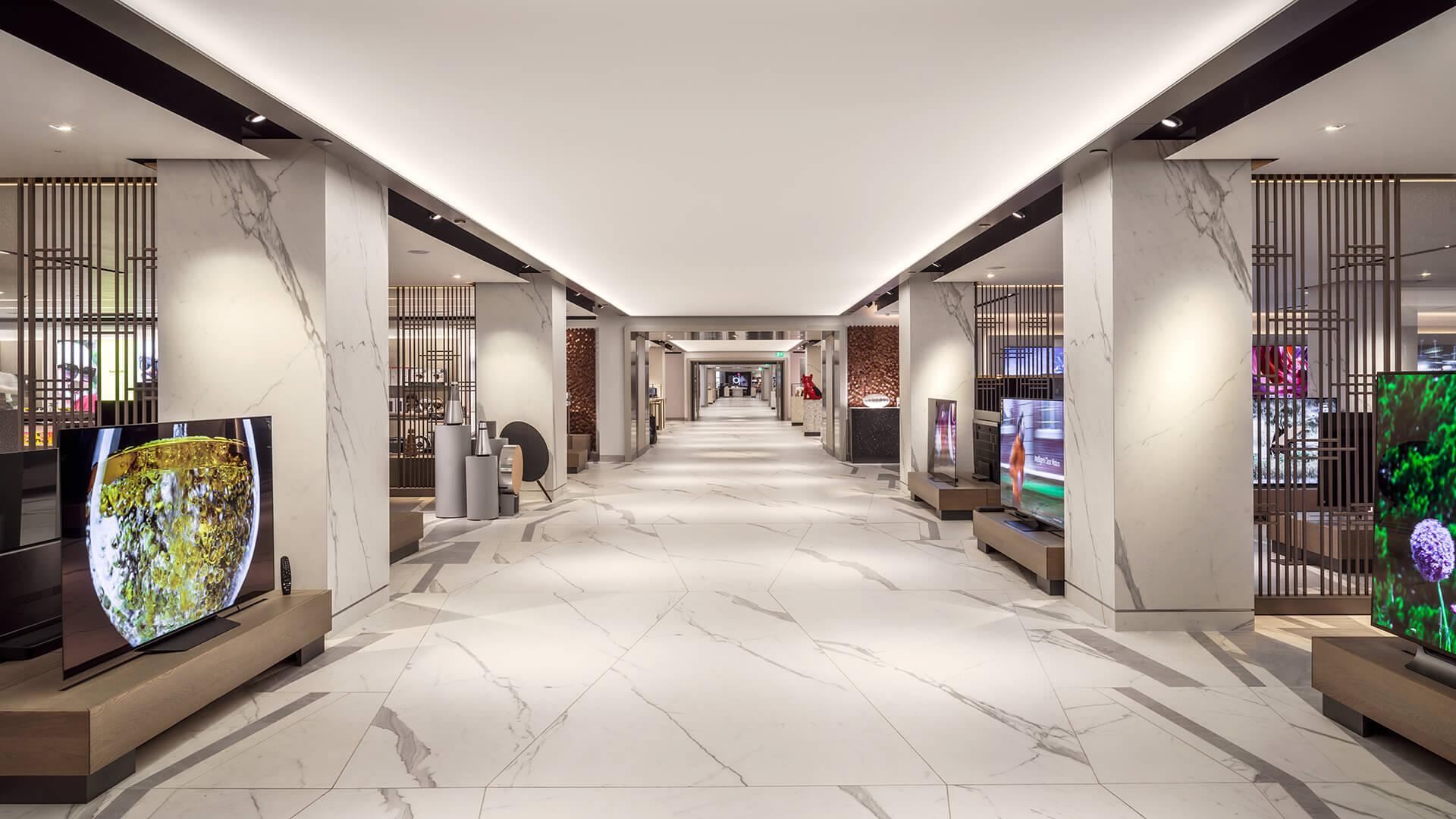 Harrods London new luxury tech department