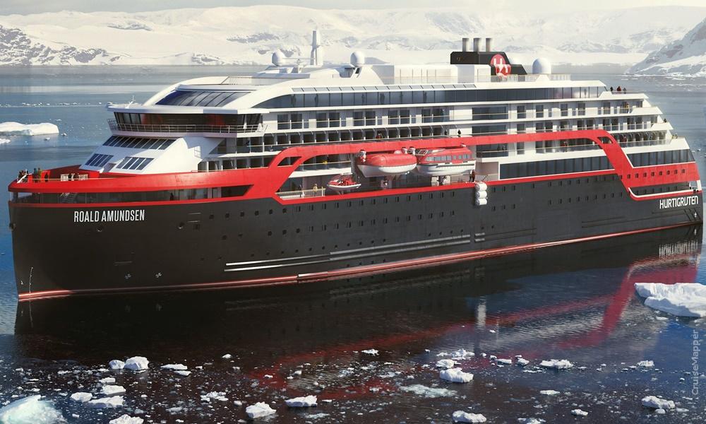 MS Roald Amundsen first hybrid cruise ship