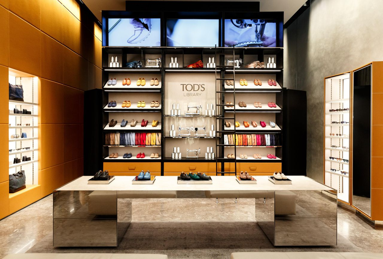 Tods new store New York city at Hudson Yards