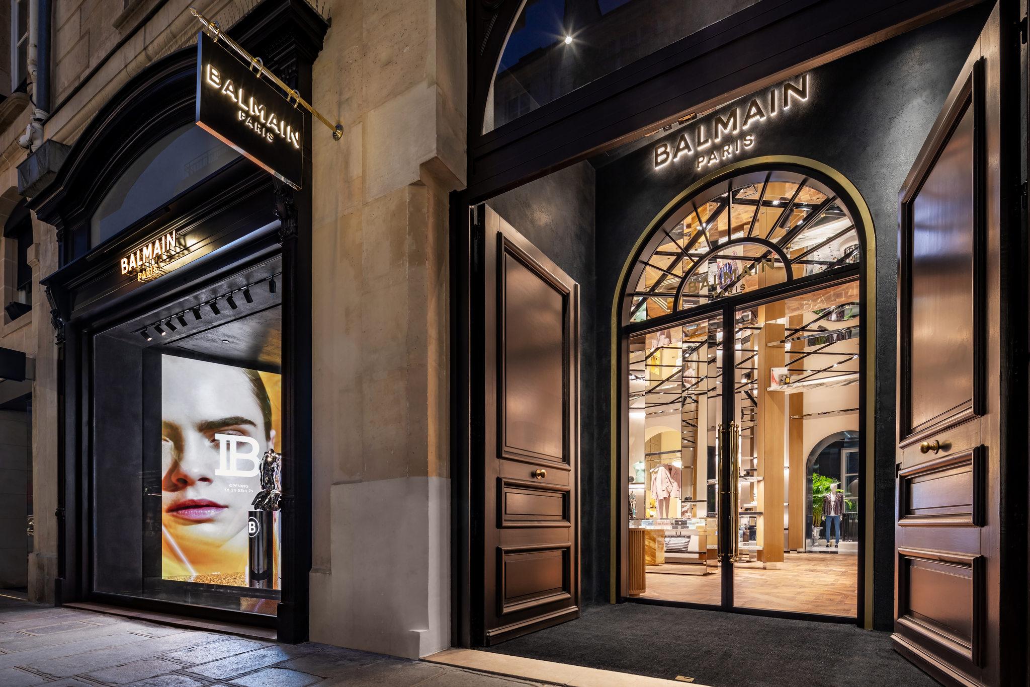 Balmain flagship store Paris