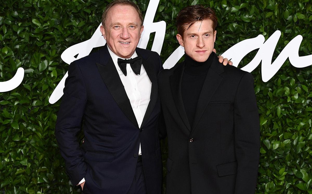 Daniel Lee (Bottega Veneta) and Francois Pinault owner of Kering