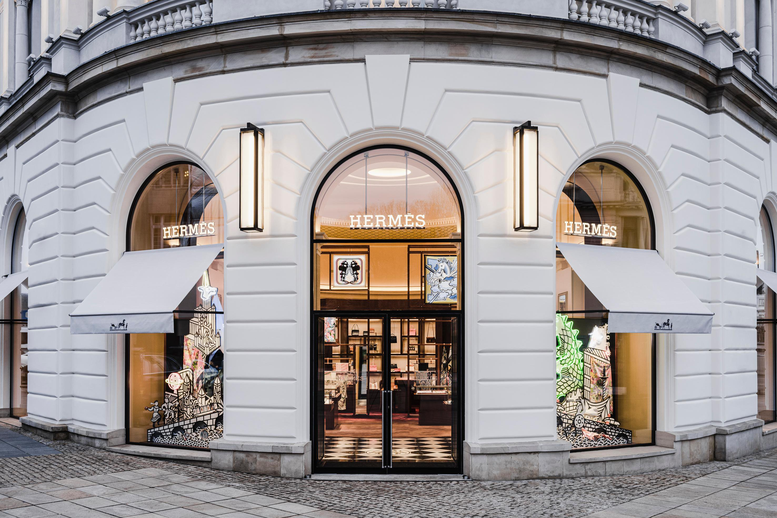Hermes new store in Warsaw Poland