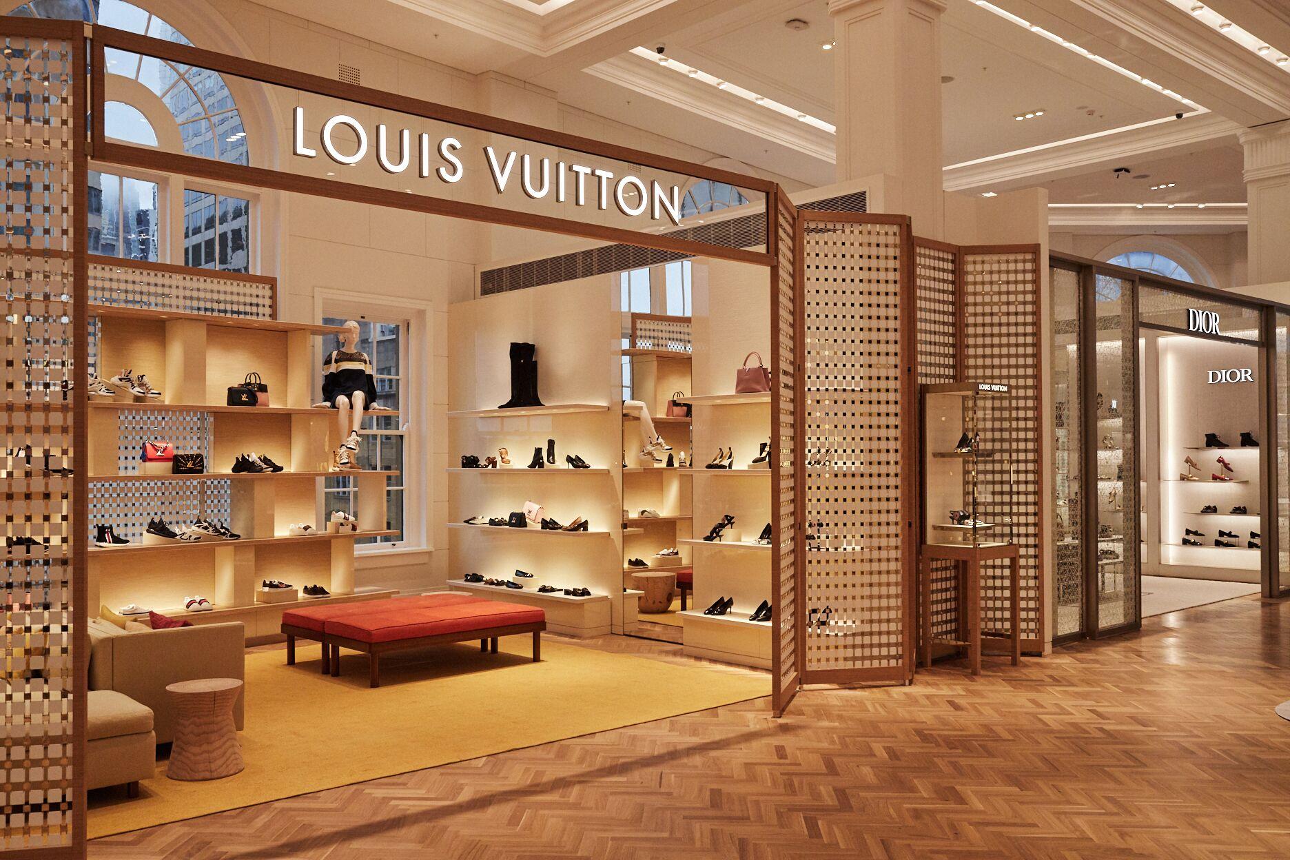 Louis Vuitton new boutique at David Jones, Sydney