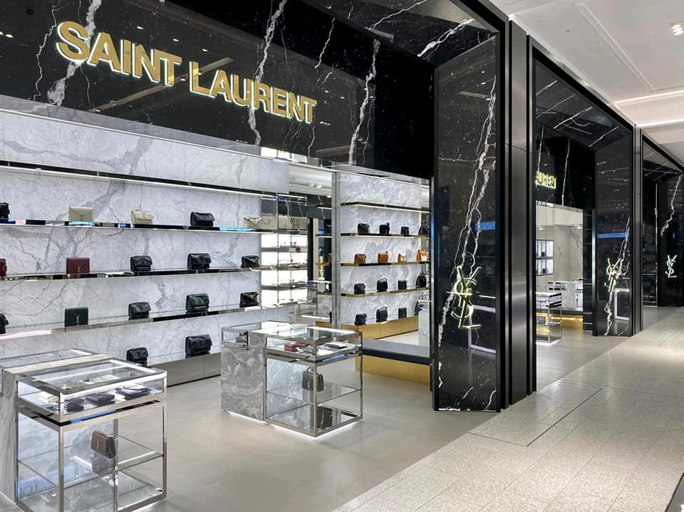 Saint Laurent new store at David Jones, Sydney