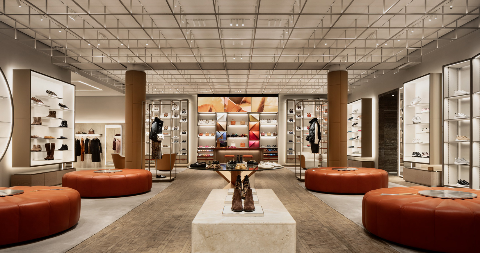 Tod's Studio flagship store concept in Milan, via Montenapoleone