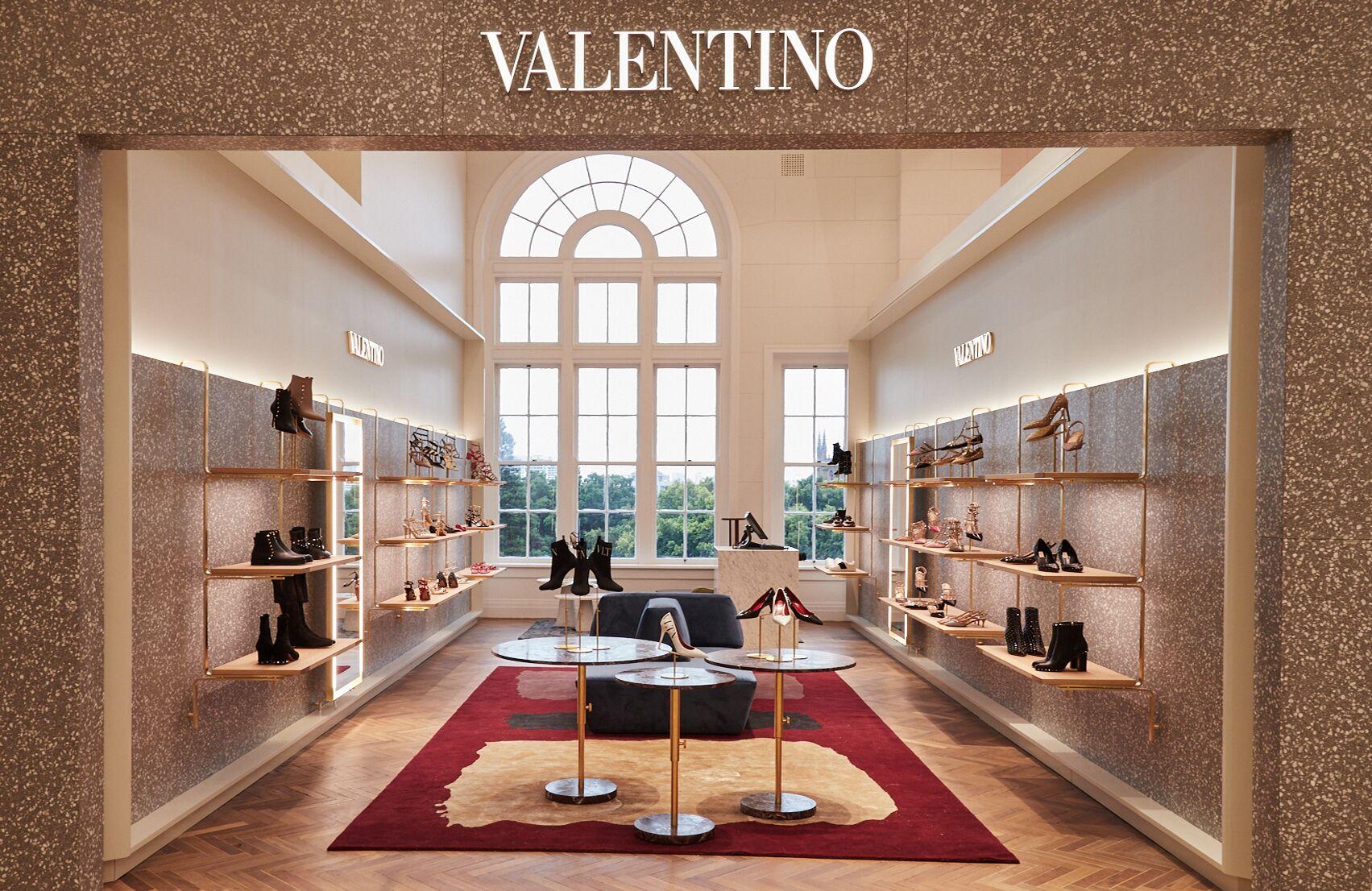 Valentino women's shoes boutique at David Jones, Sydney