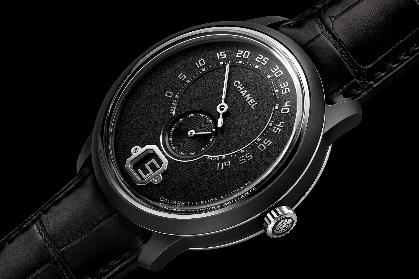 CHANEL Monsieur Édition Noire Black Ceramic Watch