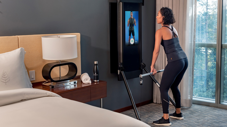Four Seasons Silicon Valley with Tonal, in-room fitness