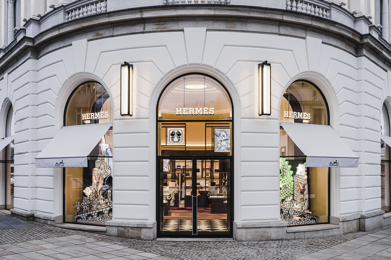 Hermes store Warsaw, Poland