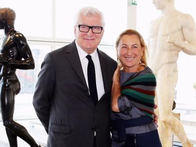 Patrizio Bertelli and Miuccia Prada