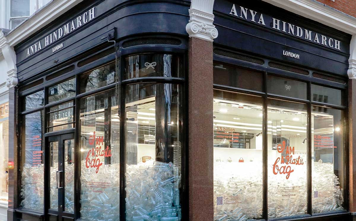Anya Hindmarch store in London 'I am a plastic bag' campaign