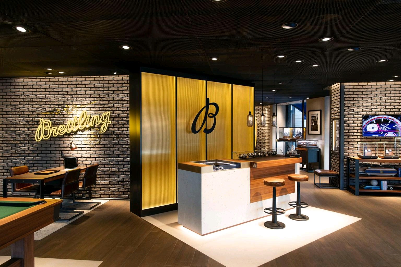 Breitling new flagship store in Geneva with Bar