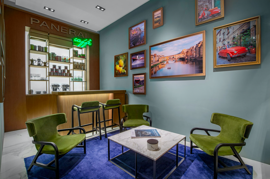 PANERAI CAFE AT flagship store in New York at Hudson Yards