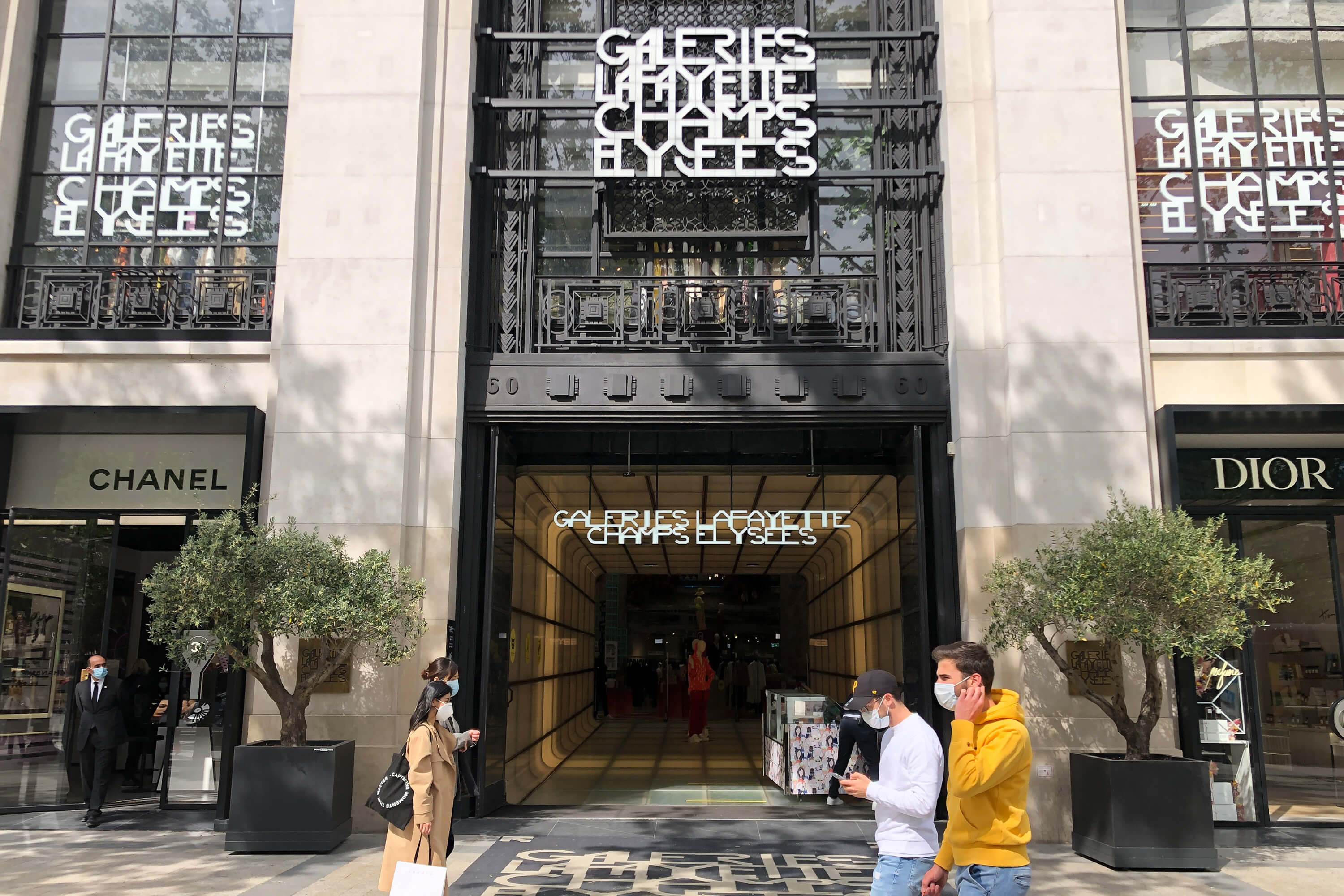 Galeries Lafayette reopens at Champs Elysees in Paris