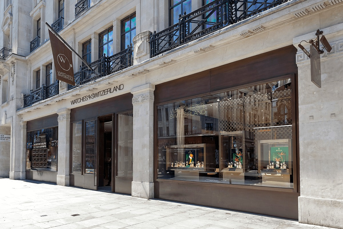 Watches of Switzerland store in London at Regent Stree