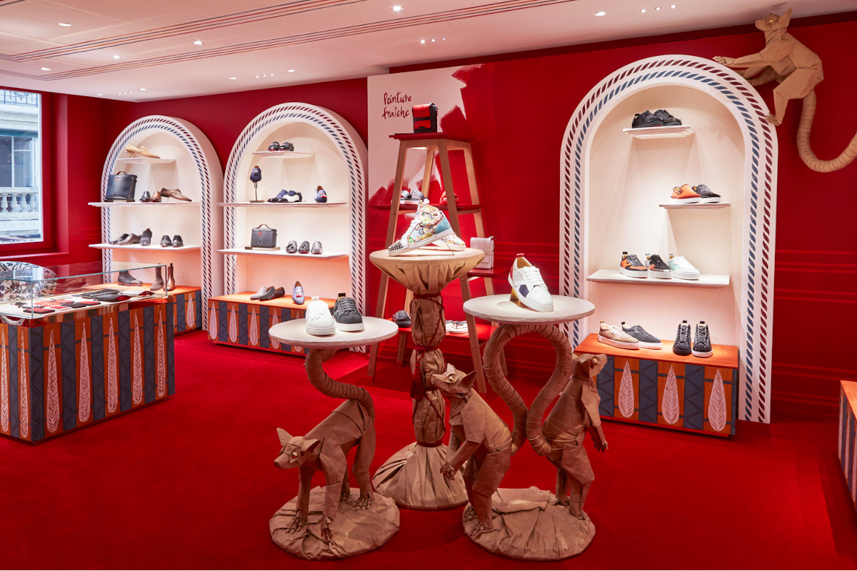 Christian Louboutin new store in Paris at Rue St Honore