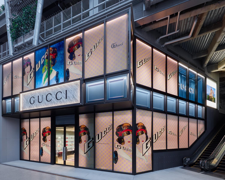 GUCCI new store in Tokyo at Miyashita Park (Shibuya)