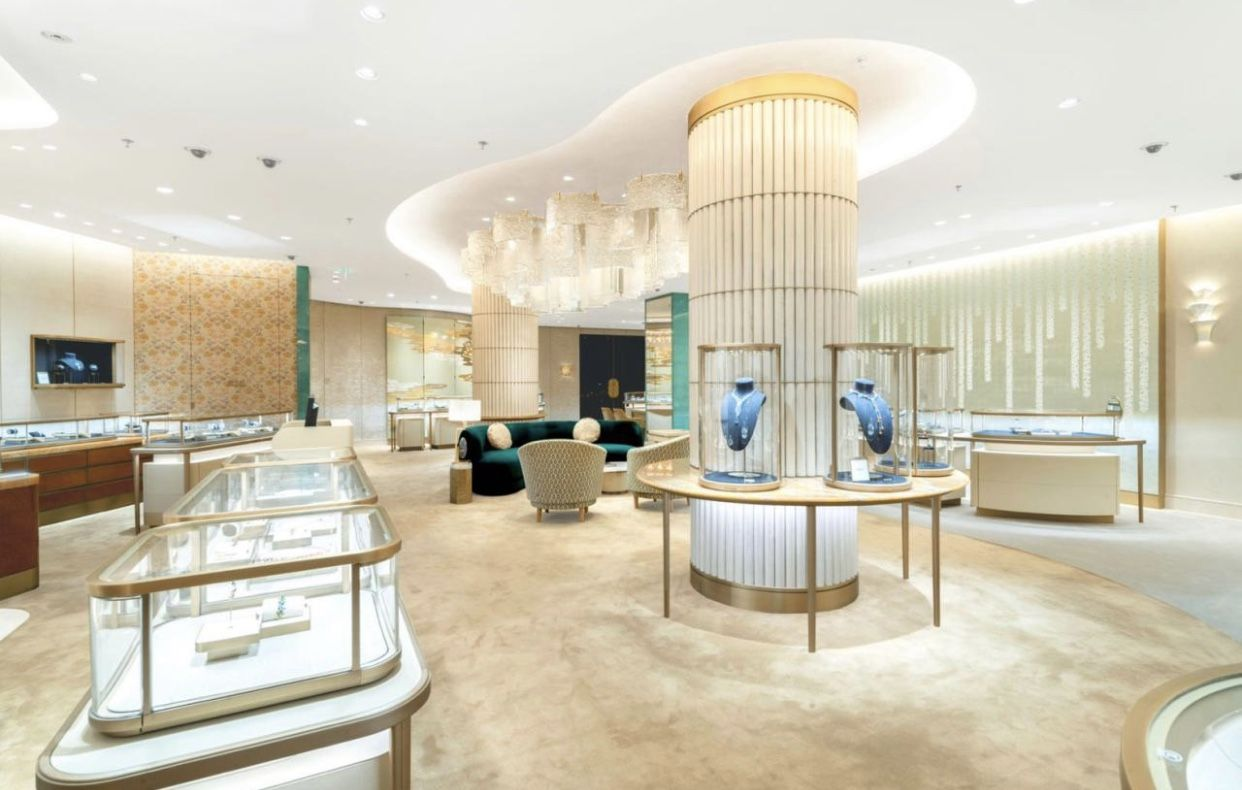 Cartier newly renovated flagship store in Shanghai at Plaza 66