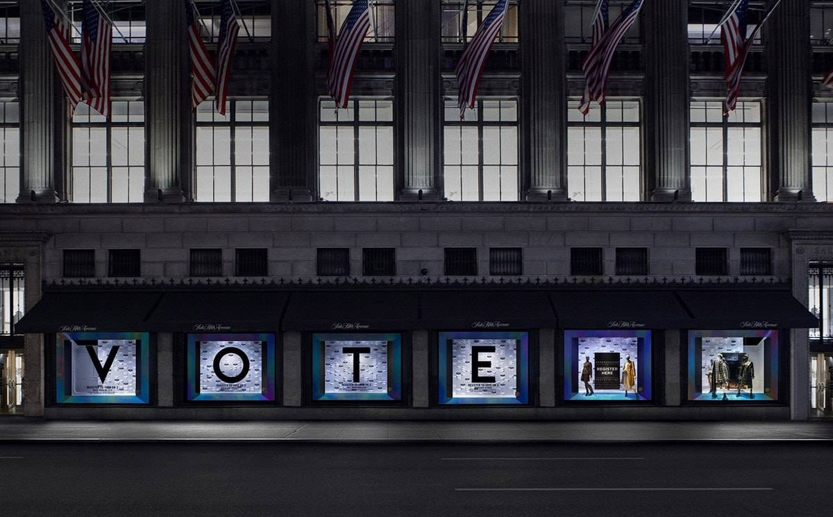 Saks Fifth Avenue launches 'Register to Vote'