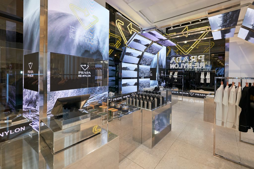 Prada Re-Nylon pop-up at Selfridges London