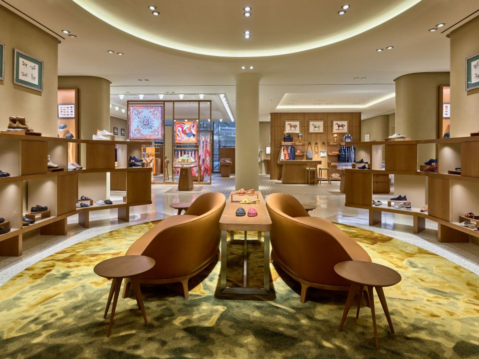 Hermès newly expanded store at Short Hills in New Jersey