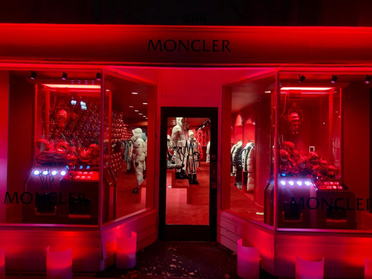 Moncler temporary store in Greenwich, Connecticut
