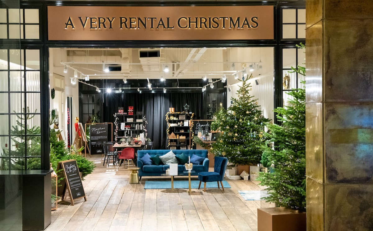 "Westfield London ""very rental Christmas"" pop-up"