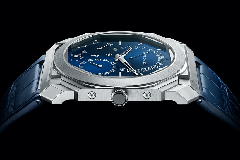 Bulgari new The Octo Finissimo Perpetual Calendar, in platinum (Watches & Wonders 2021)