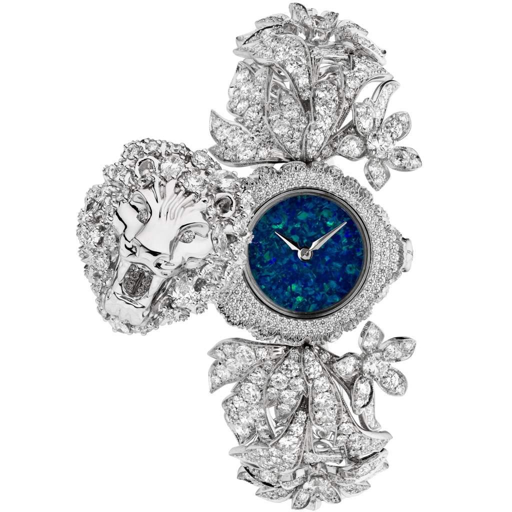 Gucci Lion-head high jewellery watch