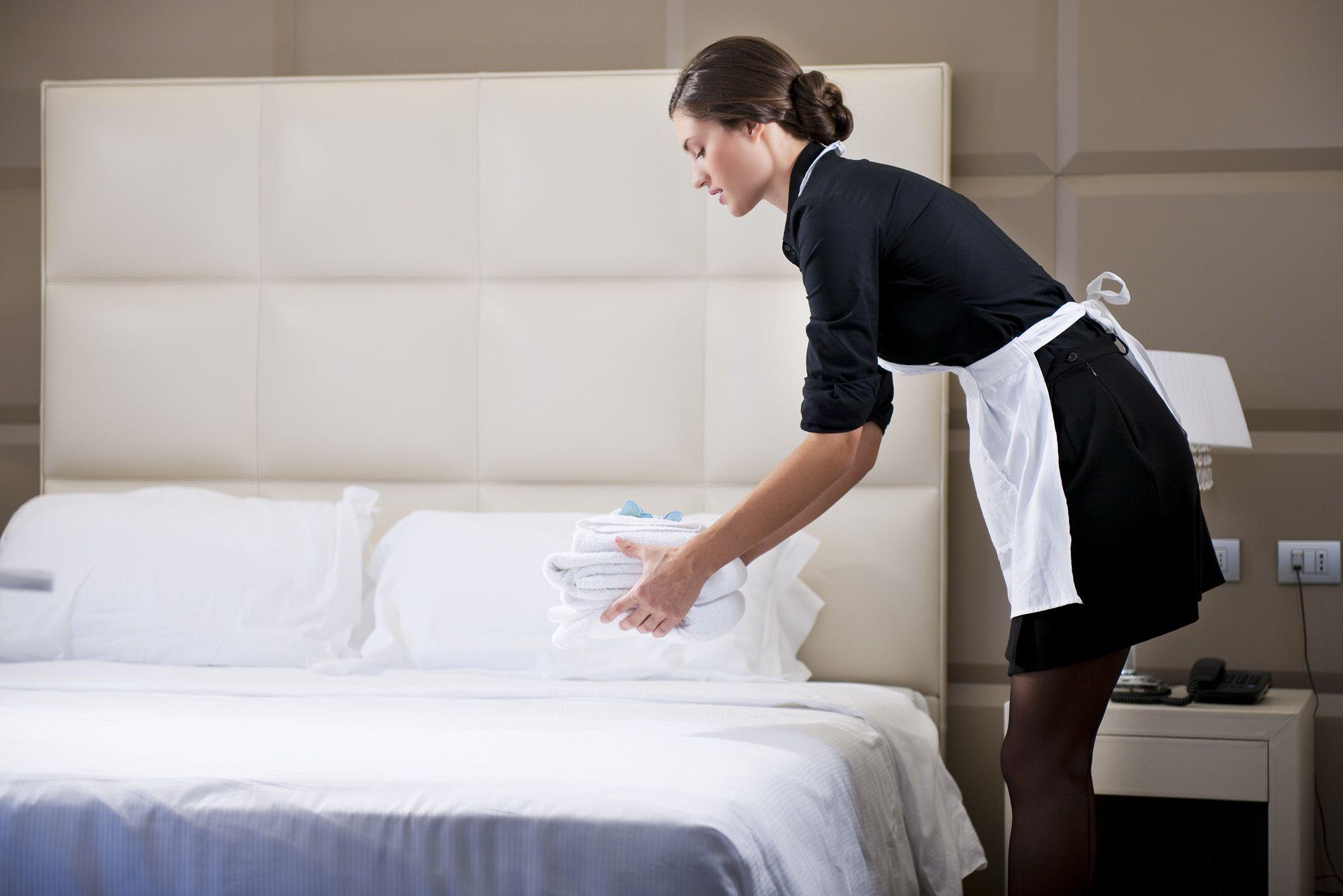 Housekeeping service in luxury hotel