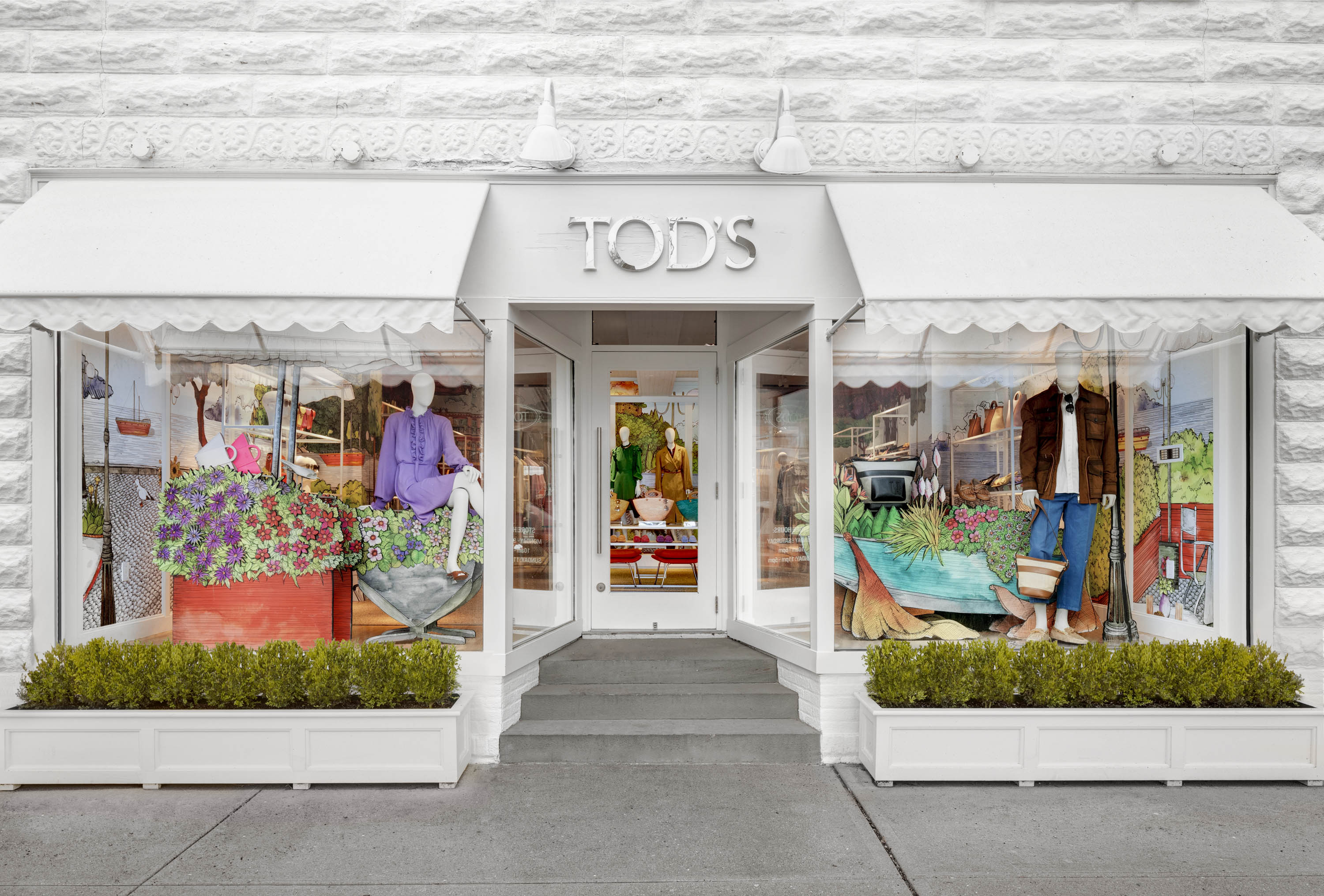 Tod's new pop-up boutique in East Hampton